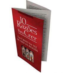 Folheto 10 Razões Para Crer em Cristo em vez de Crer na Religião