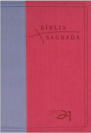 Bíblia A-21 Luxo Rosa e Lilás